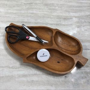 Monkey Pod Wood 3 section Leif Catch All Tray